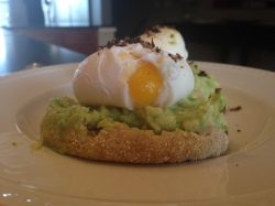avocado and egg toast weekend brunch