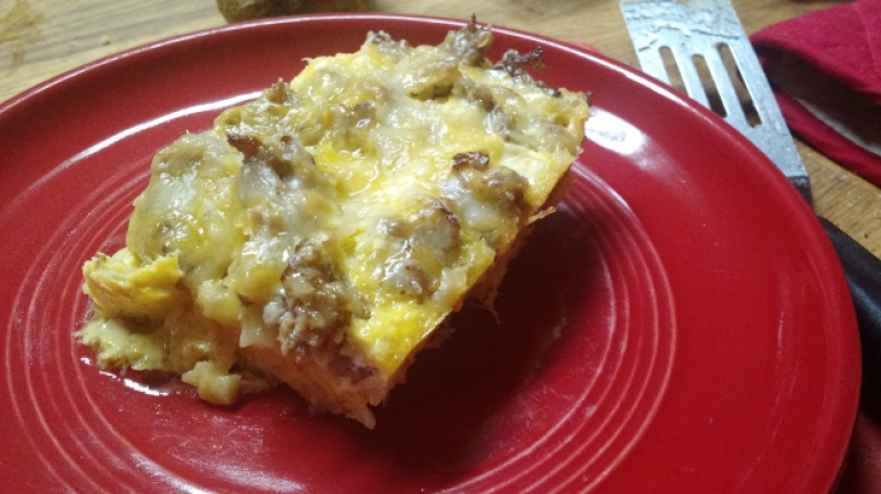 Three Cheese Breakfast Casserole