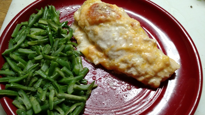 Low carb cheesy chicken