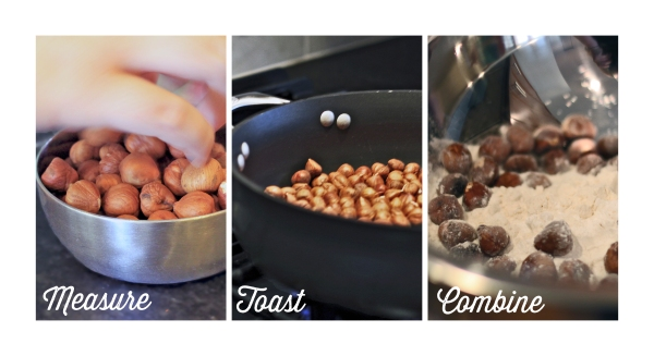 toasted hazelnuts process